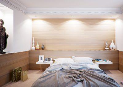 Innenausbau-Schlafzimmer-Kopfteil